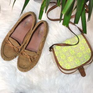 Lucky Brand Arman brown leather moccasins